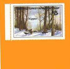 1980 NWTF WILD TURKEY RESEARCH STAMP CALL FREE SHIPPING
