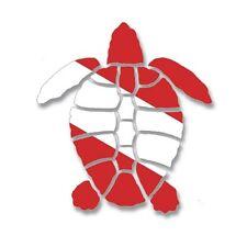 Scuba Diving Bumper Sticker Dive Flag Decal - Turtle - AUB203