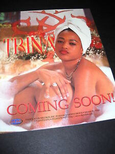 TRINA is Soaped Up and COMING SOON in Bubble Bath original 1999 PROMO POSTER AD