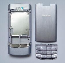 Silver housing fascia facia cover case faceplate for nokia x3-02 x3 02 silver -0