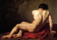 """Large oil painting gay - Jacques-Louis David - Male Nude known as Patroclus 36"""""""