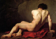Large oil painting gay - Jacques-Louis David - Male Nude known as Patroclus 36""