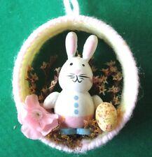 """Handmade By Me Cjbedu*Bunny Figurine Decoration*2.50"""" Tall X 2.50"""" Wide*New*"""