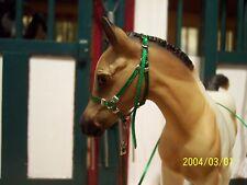 Jaapi Green halter w/lead-fits Breyer Classic/Trad foal
