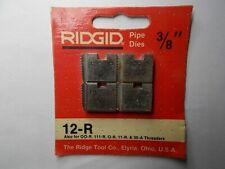 Ridgid 38 Npt 12 R Pipe Threading Dies 111 R 11 R 00 R O R 30 A 31 A 37820 Red