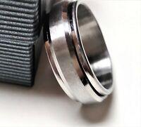 Anillo antistress para hombre acero stainless steel con movimiento
