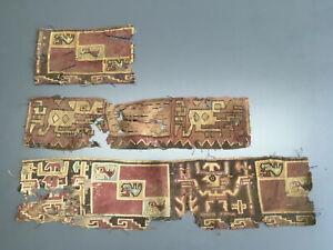 Ancient Pre Columbian Textile Nazca Chancay Chimu #41