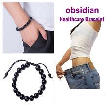 Fashion Men Women Weight Loss Round Obsidian Stone Healthcare Bracelet Nice