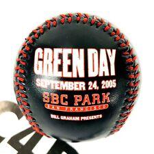 Very Rare Green Day Baseball Billie Joe Armstrong SBC Park 2005 Bill Graham