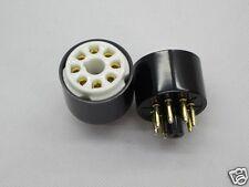 2pc(pair) Gold plated Octal tube test saver for EL34 6SN7 GZ34 5U4G 6V6 KT88 6L6