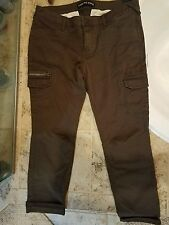 Express women's cargo jeans size 12 DARK ARMY GREEN..BRAND NEW WITH TAGS