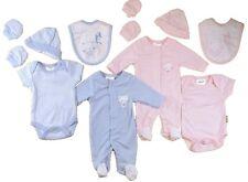 Premature Baby layette set Tiny Sleepsuit vest hat mitts pink blue 3- 7.5 lb