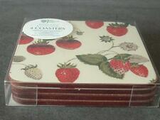 ULSTER WEAVERS FOR RHS STRAWBERRY COASTERS CORK BACKED 4 IN PACK