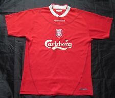 The Reds FC LIVERPOOL home shirt  jersey by Reebok 2002-2004 /men/red/ M