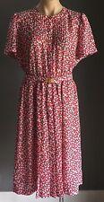 Vintage VIVA FLEUR Multi Colour Floral Print Elasticised Waist Dress Size 14/16