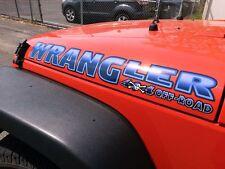 Haube Aufkleber Sticker Für Wrangler- Piraten 4x4 Aus Road -pick Farbe - 2pc Set