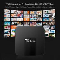 TX3 Mini Android 7.1 S905W Quad Core TV Box 2+16GB WiFi Set-top Box Media Player