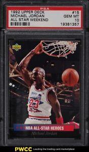 1992 Upper Deck All-Star Weekend Michael Jordan #15 PSA 10 GEM MINT
