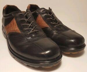 ECCO Black mens golf shoe 9-9.5 (42 Euro) EUC antibaterial arch support comfort