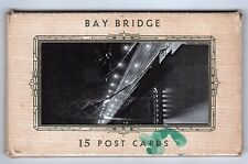 1936 BAY BRIDGE Postcard Lot FOLDER San Francisco Oakland CALIFORNIA Bardell CA