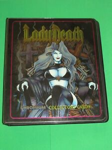 1994 LADY DEATH ALL-CHROMIUM SERIES 1 BINDER 100 Card Set + CLEARCHROME NECRO +!