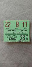 Elvis Presley Concert Ticket Stub April 23, 1973 Anaheim Convention Center