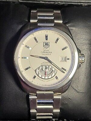 Tag Heuer Grand Carrera Caliber 6 wristwatch White Dial WAV511B