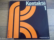 """KONTAKTE - A COMBINED TELEVISION & RADIO COURSE FOR BEGINNERS IN GERMAN 1 12"""" LP"""