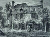 London Hampstead Heath THE SPANIARDS HOTEL INN Original Victorian Print 1878