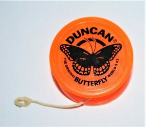 Vintage Duncan Butterfly Yo Yo Orange Toy