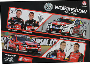 Signed Davison Tander Thompson Coulthard Walkinshaw Racing Poster Holden
