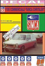 "DECAL SIMCA 1100 COMMERCIALE ""SIMCA CHRYSLER"" (06)"