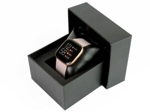 BOXED Fitbit Versa 2 Health & Fitness Smartwatch - Petal/Copper Rose - RRP £199