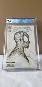 Amazing Spider-Man #55 CGC 9.8 2nd Print 1:50 WHITE SKETCH VARIANT PAT GLEASON