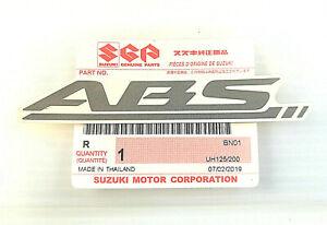2 x ORIGINAL Suzuki ABS Aufkleber-SILBER/WEISS-Schriftzug-Sticker-Bremse-