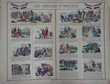 Rare Vintage Imagerie Epinal Pellerin print/Les Princes D'Orleans INV2301