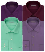 New Van Heusen Men's Athletic-Fit Lux Sateen Spread-Collar Dress Shirt MSRP $45