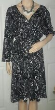 Wrap front belted dress(xl)
