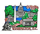 Washington D.C. Collage with Cherry Blossoms Fridge Magnet