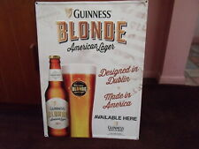 Guinness Blonde - American Lager Beer Metal Sign 23 X 17