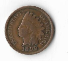 Rare Very Old Antique US 1899 Indian Head Penny USA Collection Coin Cent LOT:E32