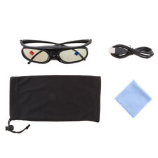 Rechargeable 3D DLP-LINK Active Glasses For Optoma/BenQ/Sony Projector Black