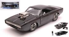 Dom Dodge Charger R/t Black Fast Furious W/figure 1 24 Modellino Jada Toys