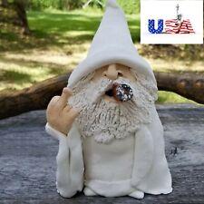 Usa - Garden Gnome Ornament Smoking Wizard Big Tongue Gnome Naughty Lawn Décor.