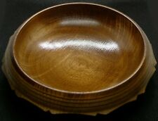 Natural Wooden Bowl and Lid, Handmade Turned Bowl, Maker's Mark on Base and Lid