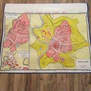 VTG 1963 Denoyer Geppert Social Sciences Classroom Map B13 Imperial Rome