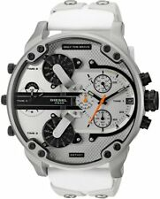 2017 Diesel Daddy DZ7401 White Chronograph Watch Model STUNNING