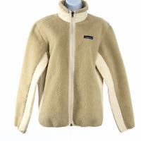 Patagonia Synchilla Retro-X Jacket Deep Pile Fleece Oatmeal Women's Large