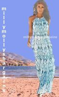 New Womens White & Blue NEXT Maxi Dress Size 12 10 8 6 Tall RRP £50
