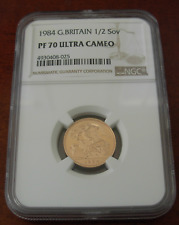 Great Britain 1984 Gold 1/2 Sovereign NGC PF70UC
